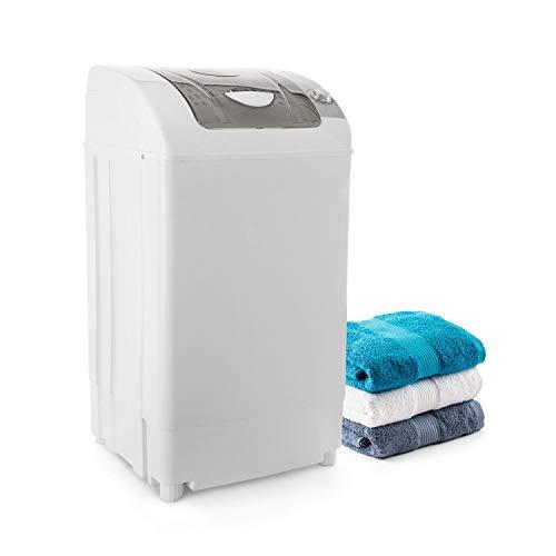 oneConcept Top Spin Family - Centrifuga, Asciugabiancheria da Campeggio, 3,8 kg, 60 Watt, Timer, Risparmio Energetico, Funzionamento Scorrevole, Bianco