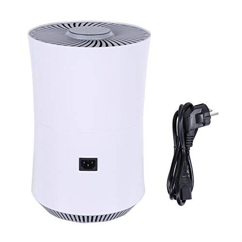 Luchtreiniger voor thuis met filter, compacte luchtreiniger voor allergieën en huisdieren, rokers, pollen, stof, stille geurverwijderaar voor slaapkamers, kleine kamer(EU)