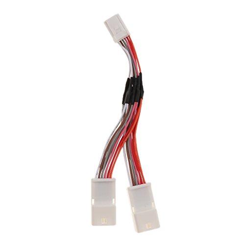 P Prettyia Nuevo Divisor de Cable en Forma de Y Pequeño Cambiador de CD de Enchufe de 6 + 6 Pines para Lexus Durable