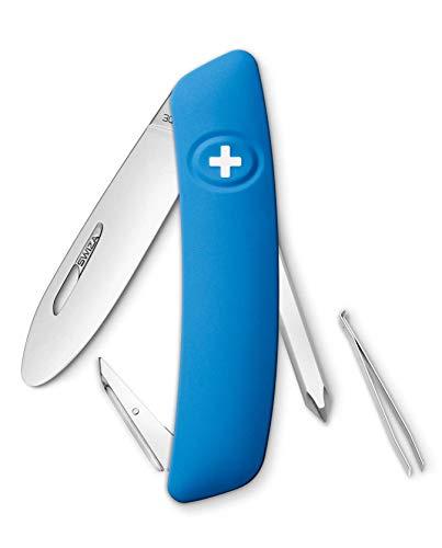 SWIZA Kinder Schweizer Messer J02 JUNIOR blau 6 Funktionen Taschenmesser, One Size