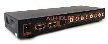 HDMI LPCM 7.1 to Analog Surround Sound Audio Decoder- 4K Version