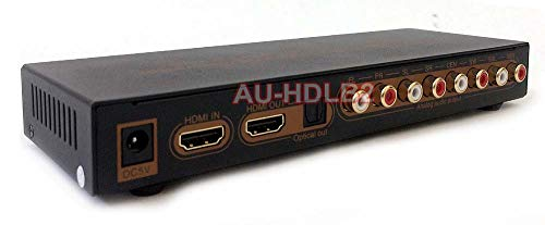 AllAboutAdapters HDMI LPCM 7.1 to Analog Surround Sound Audio Decoder- 4K Version