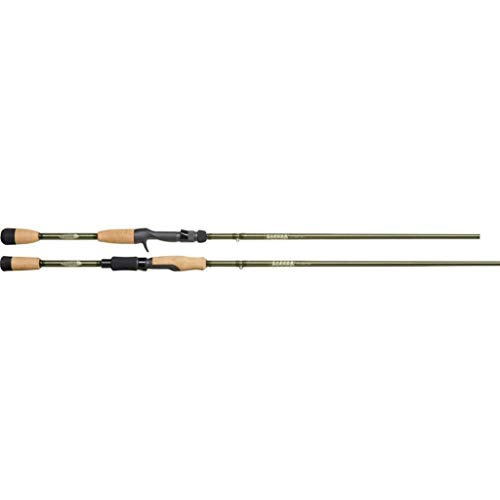 St. Croix ECS66MLF Eyecon Graphite Spinning Fishing Rod with Split-Grip Cork Handle, 6-feet 6-inches, Gold Dust Green Metallic