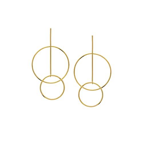 Pendientes de oro amarillo de 14 quilates para mujer