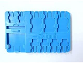 【k-450】 SIM&SDカード コンパクトメディア ホルダーケース / SIMカードやmicroSDカードをしっかりガード (ブルー[ID:46546])