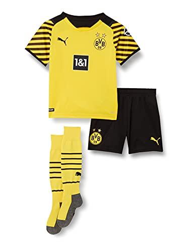 BVB Home MINIKit w Sponsor with Socks w Hanger, Cyber Yellow-puma Black, 116