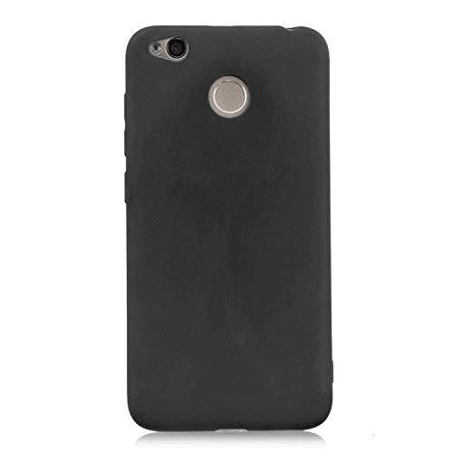 cuzz Funda para Xiaomi Redmi 4X+{Protector de Pantalla de Vidrio Templado} Carcasa Silicona Suave Gel Rasguño y Resistente Teléfono Móvil Cover-Negro