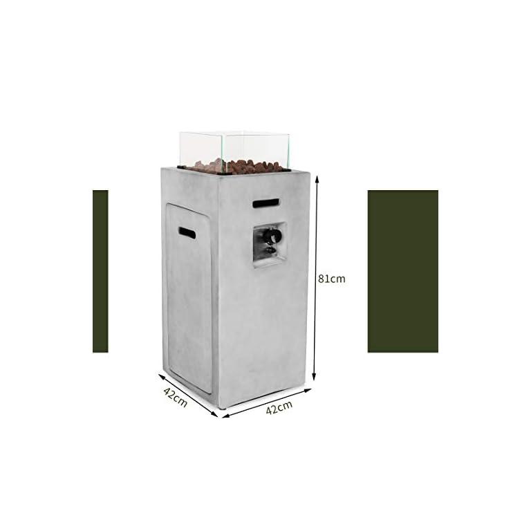 Ultranatura-Feuertisch-mit-Umrandung-aus-Spezialglas