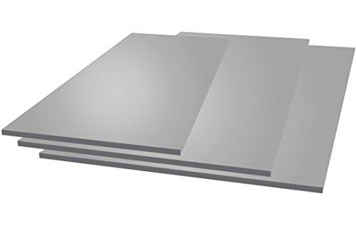 Chapa de aluminio, 250 mm x 250 mm x 2 mm, 2000