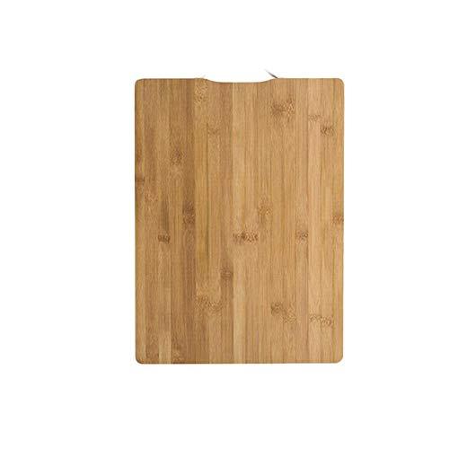 Herramienta de bloques de madera para picar de cocina, tabla de cortar colgante rectangular de bambú, accesorios de cocina antideslizantes duraderos, tabla de cortar