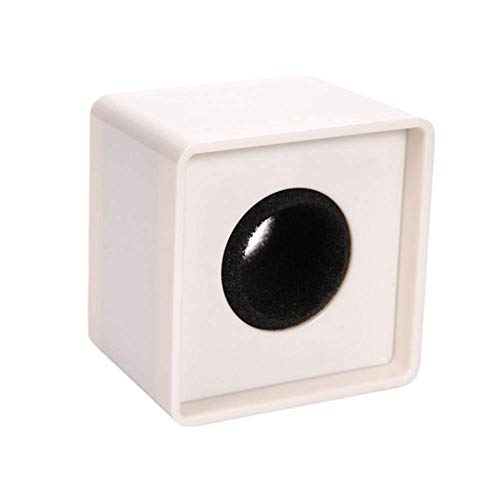 WON ABS Injection Molding Square Cube Interview Mic Microphone Logo Flag Station Logo -White PACK OF 6