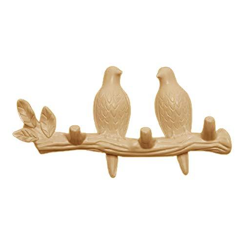 #N/a Gancho de pared colgador de abrigo, pájaros en la rama de árbol colgador de abrigo montado en la pared, decoraciones de pared accesorios para el hogar - Pearl 2 pájaro