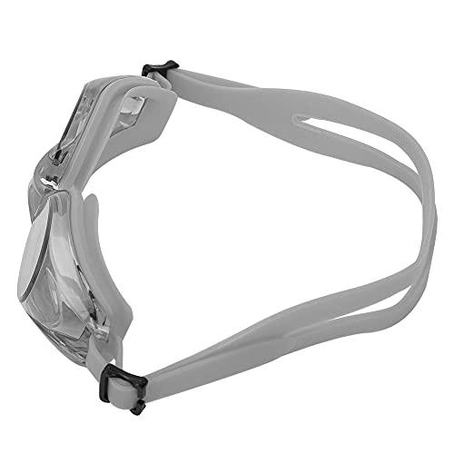 Haowecib -Gafas de natación antiniebla, Lentes de PC de Alta Elasticidad y Alta definición Gafas de natación(Gris)