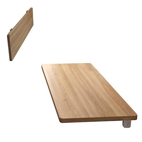 LM Wandmontage Drijvende klaptafel Eettafel Laptop Tafel, Klein formaat Home Wandplank, Waterdicht en Vochtdicht Eenvoudig schoon te maken, Hout Kleur, Multi-size Optioneel