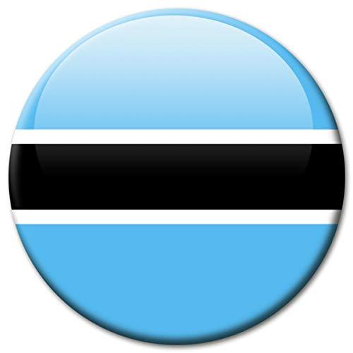 Kühlschrankmagnet Botswana Flaggen Magnet Länder Reise Souvenir Flagge für Kühlschrank stark groß 50 mm