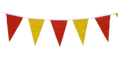 19268 - PAPSTAR - Wimpelkette 4 m rot, gelb, rot wetterfest