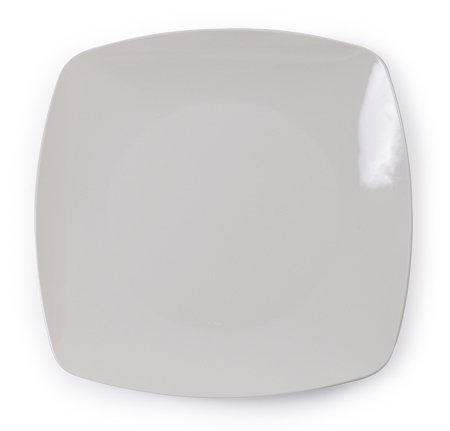 Renaissence Teller, robust, Hartplastik, 25 cm, Knochen/Elfenbeinfarben, 10 Stück
