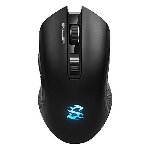 Sharkoon SKILLER SGM3 schwarz, optische Gaming Maus, Dual Mode (Funk oder Kabelgebunden), RGB