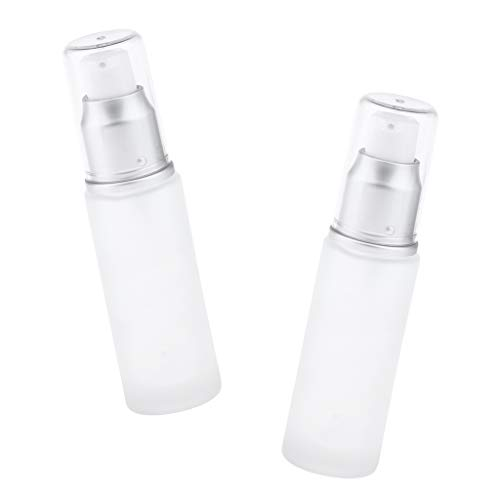 dailymall 2pcs / Set Travel Empty Lotion Bottle Dispensador De Envases Cosméticos Para Maquillaje Líquido Mineral, Perfume, Lociones, Tónicos, Cremas, Humectant - Cabeza de Bomba