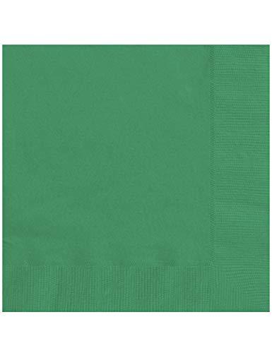 COOLMP 20 Serviettes en Papier Vert émeraude 33 x 33 cm - Taille Unique - Décoration et Accessoires de fête, Animation Festive, Anniversaire, Mariage, événement, Jouet, Cotillon