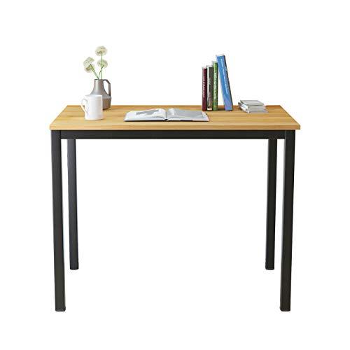 soges Scrivanie 100x60cm Ufficio Postazioni di Lavoro per Computer Scrivania PC Tavolo da Pranzo in Legno Scrivania, S1-GCP2AC3-100TB