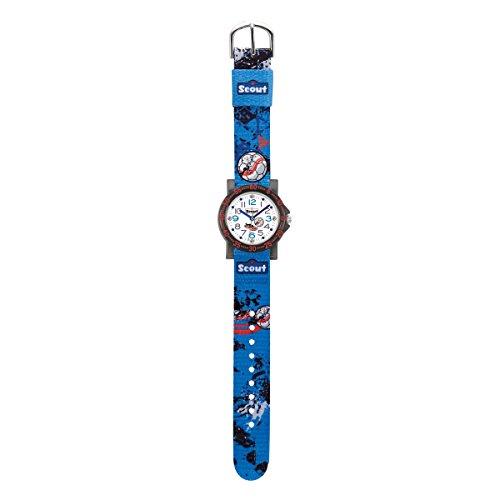 Scout Jungen-Armbanduhr Analog Quarz Textil 280375009