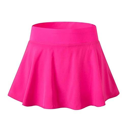 UKKD Falda de Tenis Mujeres Atlética De Secado Rápido Entrenamiento De Gimnasio Corto Gimnasio Fitness Chicas De Cintura Alta Falda Tenis Running Falda Vestido De Playa