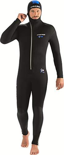 Cressi Diver Man Monopiece Wetsuit Traje de Buceo de Una Pieza para Hombres, Disponible en 5 mm/7 mm, Men's, Negro/Azul, XXXXL/8