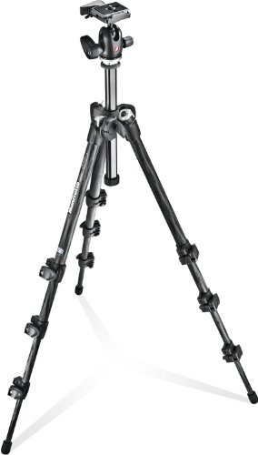 Manfrotto MK293C4-A0RC2 - Trípode Completo (4 Secciones, rótula de Bola 494RC2), Negro