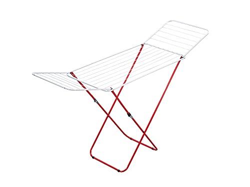Leifheit Standtrockner Verona 180, Flügelwäschetrockner mit 18m Wäscheleine für bis zu 2 Waschmaschinenladungen, hohe Flügel für lange Wäsche, platzsparender Wäschetrockner, Wäscheständer
