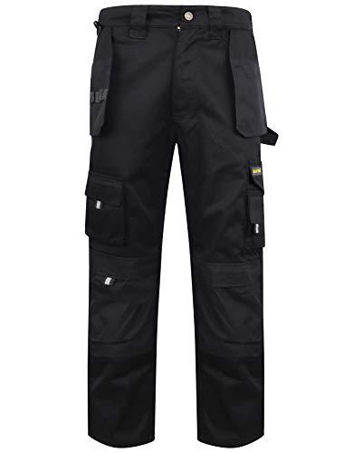 Pantalones cargo resistentes con rodilleras, pantalones de trabajo con múltiples bolsillos, pantalones de trabajo