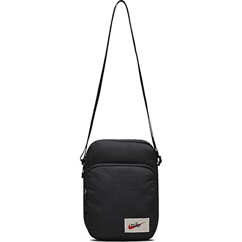 Nike Heritage Smit Tasche, Black/Orange Blaze, One Size