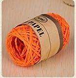 DALIU 10 M/Roll DIY Raffia Ribbon Cord Paper Gift Decoración del Banquete de Boda, Naranja