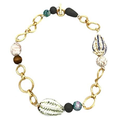 Collana da donna Collana conchiglia Collana Viola Shell Natural Stone Beaded Clavicle Jewelry Jewelry, collana conchiglia
