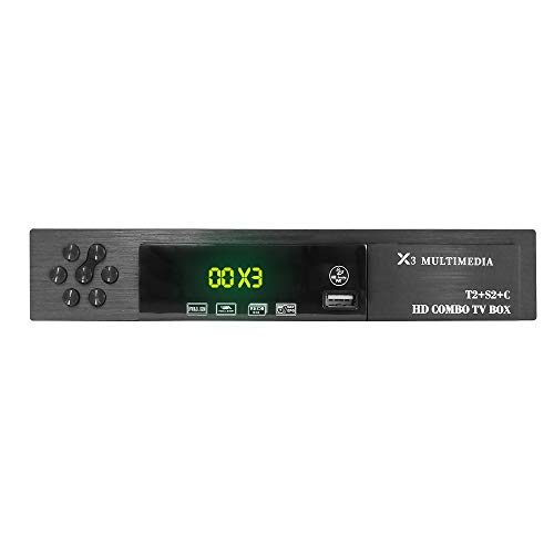 Vmade X3 HD Combo DVB-S/S2 DVB-T/T2 Digital Receiver Satellite & Terrestrial, Set Top...