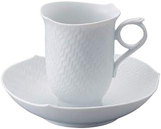 【正規輸入品】 マイセン [MEISSEN] 波の戯れ ホワイト コーヒー カップ&ソーサー 000000/29582