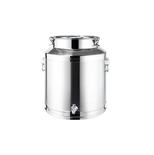 GHKWXUE Edelstahl-Milch Barrel, abgedichtet Barrel Weinfasses Ölfaß Gärfass, verwendet for Milch/Öl/Wein- / Suppe Lagerung und Verteilung, mit Anzapfungen 5L, 8L, 9L, 14L, 18L, 22L, 24L 76L, 88L