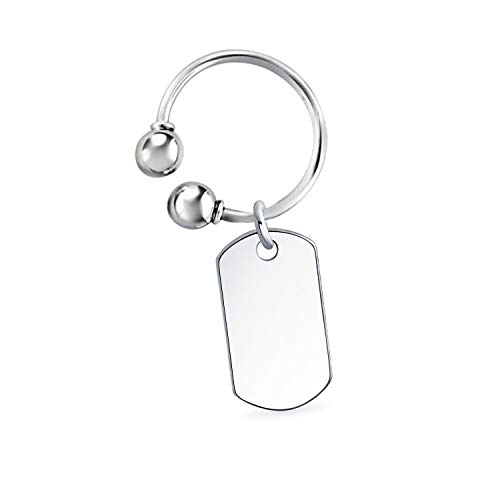 Bling Jewelry Unisex Personalizza Il Portachiavi Personalizzabile in Bianco del Portachiavi incisa a Ferro di Cavallo Tipo Portachiavi Uomo Uomo Laurea .925 Sterling Silver