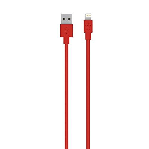Belkin Lightning a USB de Carga y Cable de sincronización para Apple iPhone 5, 5c, 5s, iPad Air, 4th y iPad Mini (certificación MFi)