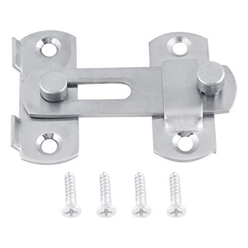 Porta scorrevole con chiusura a scatto Hasp, bulloni di protezione antifurto per la casa di sicurezza in acciaio inossidabile, serratura scorrevole con chiusura a scatto, per accessori per armadietti