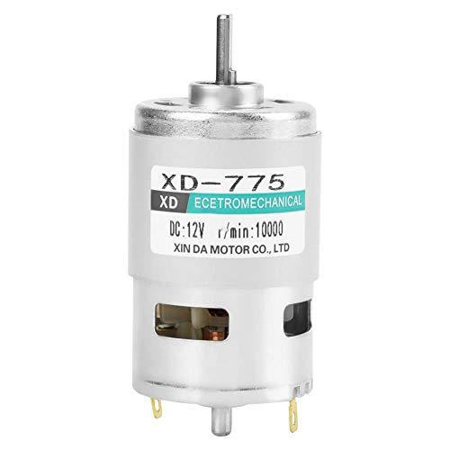Gleichstrommotor mit hoher Geschwindigkeit, Geräuschentwicklung von XD-775 12 V / 24 V, Permanent Magnetmotor Doppellager mit Bürsten(12V 10000 U/min)