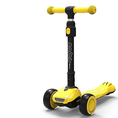 QIXIAOCYB Scooter de una sola leed es adecuado para niños de 2 a 8, la altura del scooter plegable es ajustable B (Color : B)