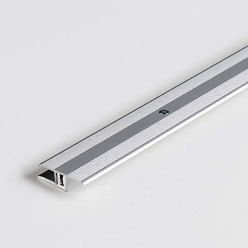 Parador Boden-Profile Übergangsprofil Aluminium Silber für Vinyl/Laminat Bodenbeläge 7-15 mm