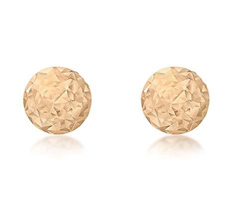 Carissima Gold Damen 9k (375) Rotgold 4 mm Diamantschliff Ball Ohrstecker 5.55.8009