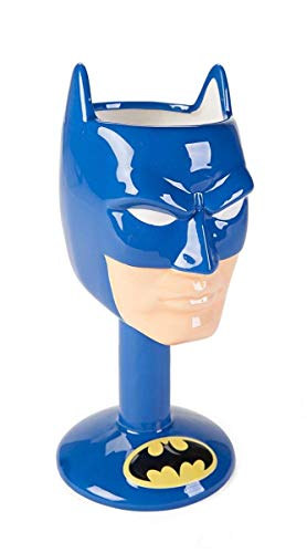 DC Comics Batman 3D Ceramic Goblet novelty drinkware, One Size, Blue