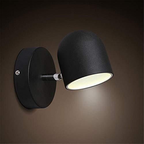 YLCJ Moderne wandlampen, wandlampen, wandlampen, slaapkamer, trappenhuis, hal, verlichting, schommels, arm, ijzer, wandlamp, zwart