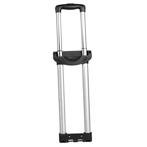 Alluminio Valigetta Traino Bagaglio Asta Rod - Nero - Due Barre