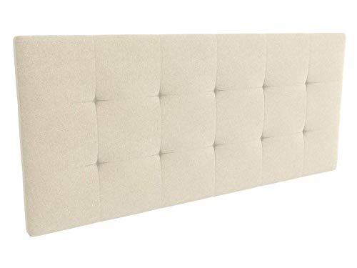 LA WEB DEL COLCHON - Cabecero tapizado Celio para Cama de 150 (160 x 70 cms) Beige Claro Textil Suave