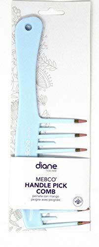 Diane Mebco Handle 8.75 Inch Pick Comb Baby Blue 1 piece DBC056