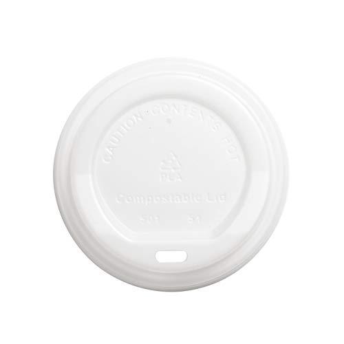 Tapas Desechables Biodegradables Café Para Llevar, Paquete de 50 unidades - Fabricadas...